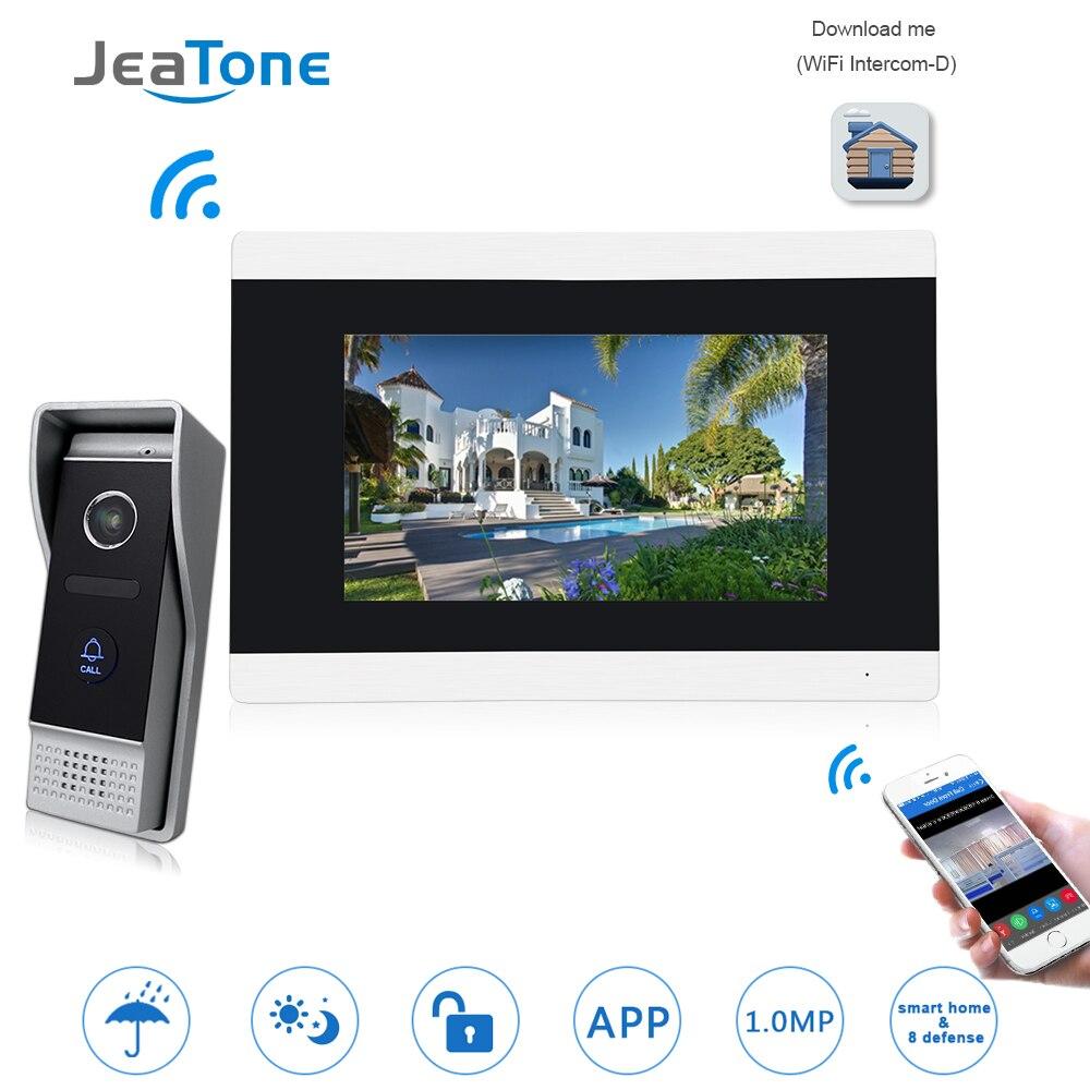 Tela de toque Sem Fio WI-FI IP Telefone Video Da Porta Sistema de Controle de Acesso Campainha Vídeo Porteiro Villa Apartamento de Detecção de Movimento
