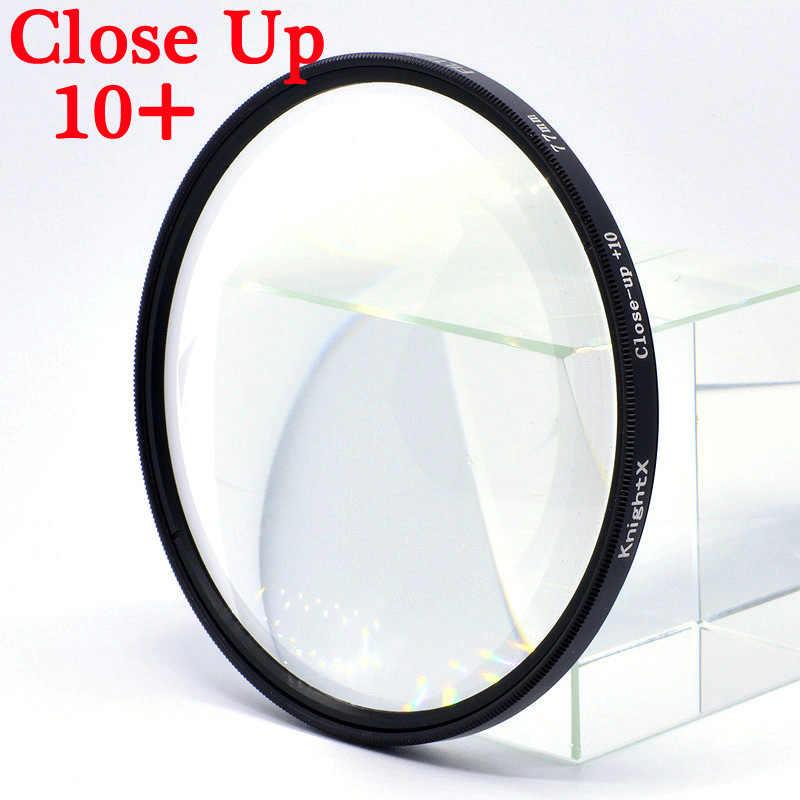 Knightx Makro Close Up 10 + Filter Lensa Kamera untuk Canon Sony Nikon Fotografi D3300 1300D 2000D D5100 D70 DSLR 52 Mm 58 Mm 67 Mm
