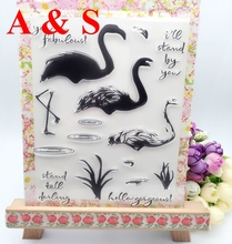 Swan Gift Transparent Clear Stamp DIY Silicone Seals Scrapbooking/Card Making/Photo Album Decoration Crafts