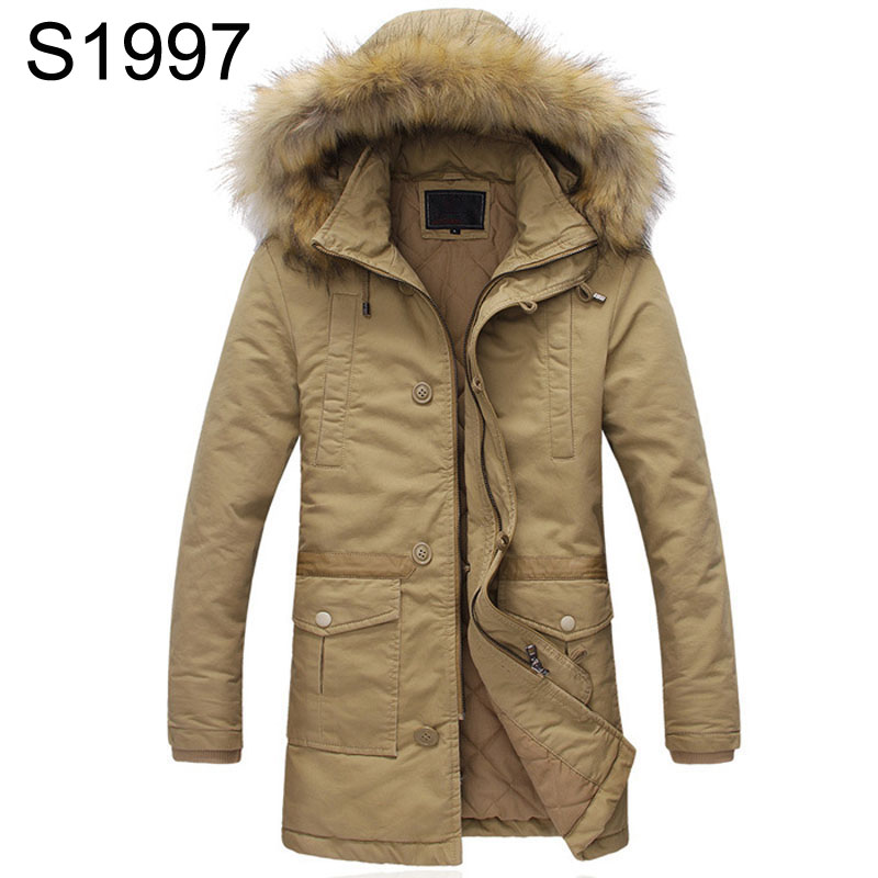 Quilted Jacket Male Mid-Long Parka New Winter Thicken Warm Hooded Fur Collar Cotton Padded Coat Men's Snow Jackets Windproof winter coat male thicken warm quilted jacket hooded long sleeve fleece cotton padded coat men parka snow coat outwear 3xl 4xl