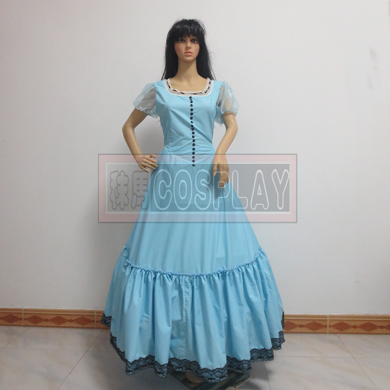 Free Shipping Alice in Wonderland Cosplay Costume Alice's Adventures in Wonderland Alice Dress