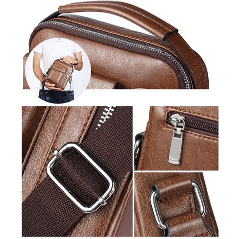 Casual Men Shoulder Bag Vintage Crossbody Bags High Quality Male Bag Leather Handbag Men Messenger Bags WBS510-2 Islamabad
