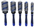 Blue 5 Sizes Set Hair Care Styling Ceramic Round Brush Hair Comb Hairdressing Salon Barber Styling Brush free shipping