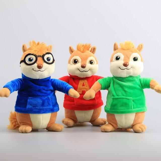 """Alvin y las ardillas juguetes de peluche Kawaii de peluche de juguete animales de 9 """"de 22 cm de los niños regalo de Navidad"""