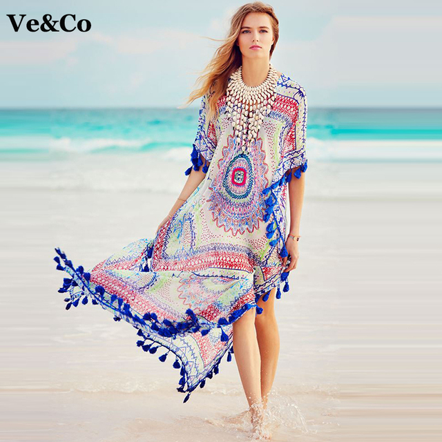 ac4f7fbb1196b VE CO Sexy Bikini Cover Up Beach Wear Dress Tunic Pareo Beach Cover Up 2017  Summer Chiffon Women Bathing Suit Swimsuit Cover Up