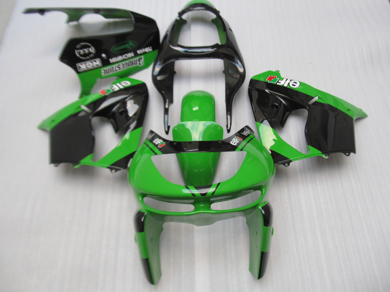 New hot moto pièces carénage kit pour Kawasaki ZX9R 98 99 vert noir carénages set ZX9R 1998 1999 OT12