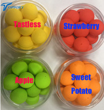 Toppory 2PCS/Lot 17mm Big Floating Carp Fishing Boilies Flavoured Pop Up Artificial Grass Carp Bait Hair Rigs Terminal Tackle