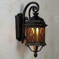 유럽 야외 방수 벽 램프 미국 복고풍 풍경 조명 정원 램프 발코니 게스트 레스토랑 정원 LU810929