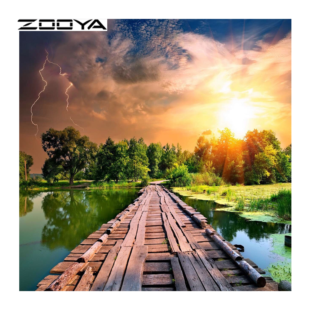ZOOYA Di Diamond кескіндеме Алмаз кескіндеме - Өнер, қолөнер және тігін - фото 1
