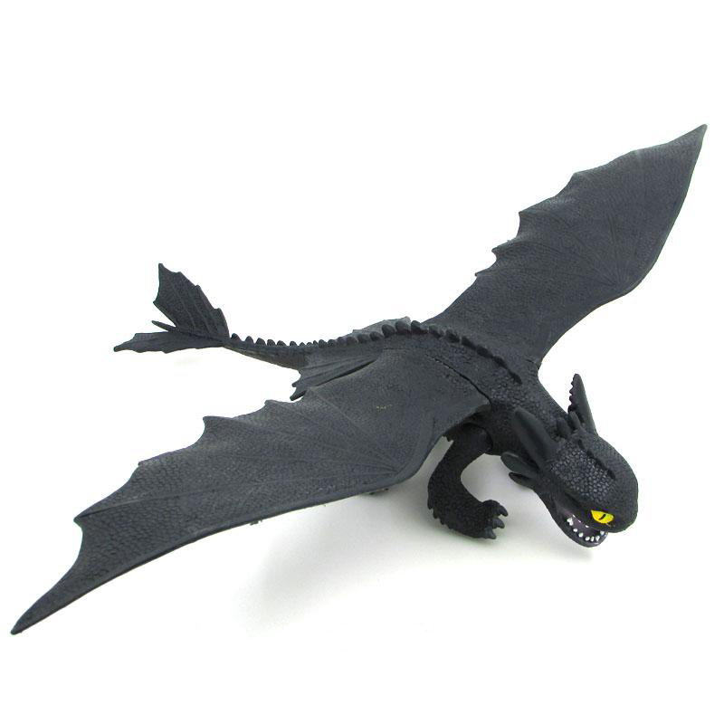 Image 2 - Servwell Dragon Master 25 37cm Toothless Night Fury Action Figure Toy Deadly Nadder Hageffen Gronckle Collectible Toy ChildrenAction & Toy Figures   -