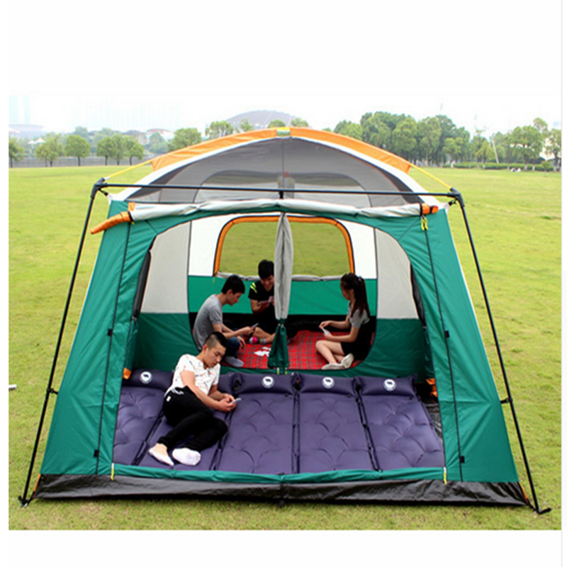 Fishing Outdoor Camping Tent Two Bedroom Tent Big Space Camping Tent 6/7/8/9/10/12 Person Camping 4 Season 3 4 person big size tent for outdoor camping large size camping tent 245x245x145cm 4 67kg