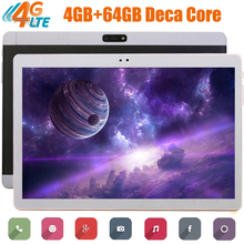 China Factory Android 7.0 OS 10 inch tablet 4G FDD LTE Deca Core 4GB RAM 64GB ROM 1920*1200 IPS Kids Gift Tablets 10 GPS
