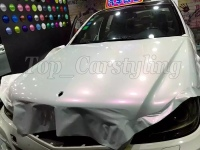 Pearl white chameleon white to pink Vinyl For Car Wrap Film with Air Bubble Free Vehicle covering PROTWRAPS 1.52x20m/Roll