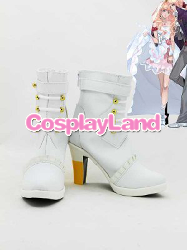 Customize Boots Macorss Frontier Cosplay Sheryl Nome White High Heel Coplay Shoes Cosplay Costume Anime Party Shoes