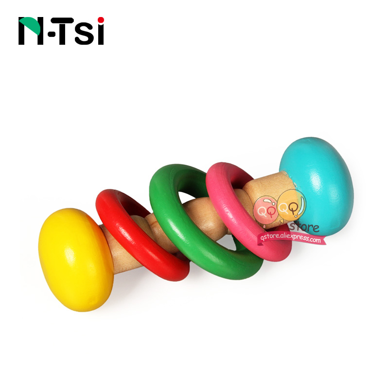 Image 5 - N Tsi Wooden Baby Rattles Grasp Play Game Teething Infant Early Musical Educational Toys for Children Newborn 0 12 months Gift-in Baby Rattles & Mobiles from Toys & Hobbies