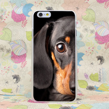 260HJ Dachshund Cute Dog Puppy Hard Transparent Case Cover for iPhone 4 4s 5 5s SE 5C 6 6s Plus 7 7 Plus