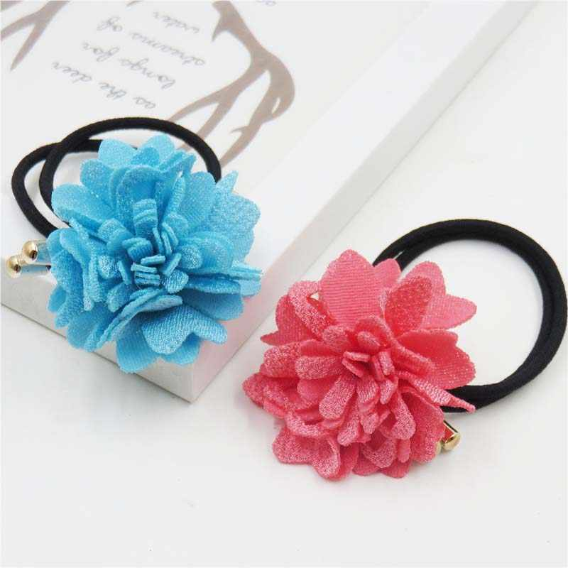 1PCS Hollow Rose Flower Elastic Hair Bands For Girls Bohemian  Headband Scrunchy Korean Fashion Kids Hair Accessories For Women