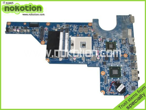 NOKOTION 650199-001 Laptop Motherboard for HP PAVILION G4 G7 HM65 Mobility Radeon HD DDR3 Mainboard Mother Boards for hp laptop motherboard 6570b 686976 001 motherboard 100% tested 60 days warranty