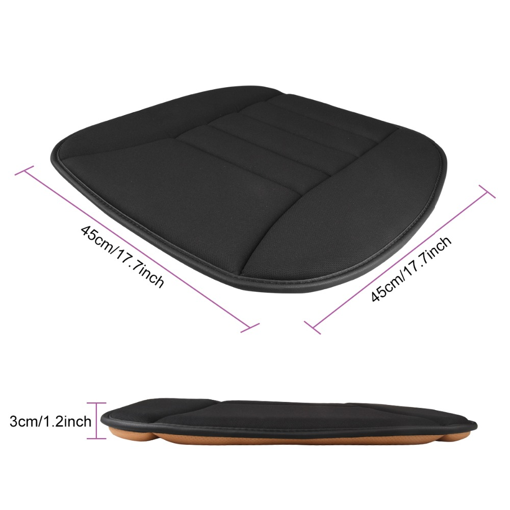 Car Seat Cushion Pad Memory Foam Mat for Auto Office Chair Back Sciatica Pain Relief Universal