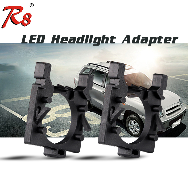 R8 Brand 2pcs Auto LED Headlight H7 Bulbs Installation Adapter Holder Socket For Ford Focus 3