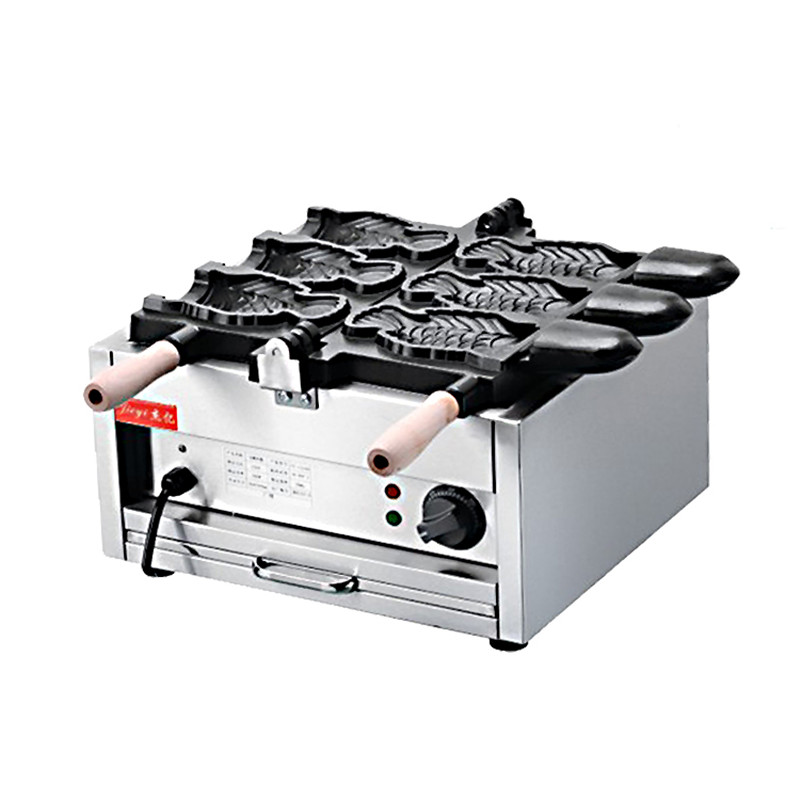 110V 220V Open Sea Bream 3pcs Fish Cake Machine +Baked Fish-Shaped Bread Commercial Waffle Maker Non-stick Waffle Bread Machine цены