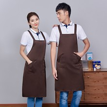7 Colors Adjustable Solid Color Sleeveless Apron Kitchen Cooking Oil-proof Coffee Shop Barbecue Barber Work Unisex