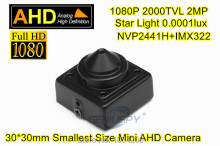 1080P 2MP 1/3 NVP2441H+SONY IMX322 0.0001lux low lux Star light 30x30mm Mini Square AHD Camera CCTV Pin hole Lens For AHD DVR