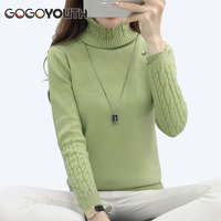 Women Turtleneck 2017 Long Sleeve Winter Sweater Women Knitted Jumper Winter Tops Tricot Women Sweaters And