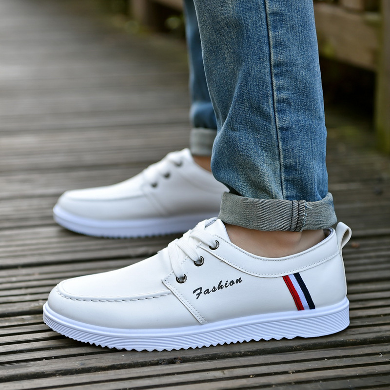 2018 spring and summer new men's British style of the trend of shoes casual shoes student sports shoes men's shoes 2018 spring sports and leisure trend van gogh wind shoes