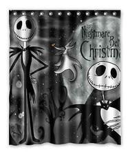 2015 Горячая продажа Бесплатная Доставка На Заказ Кошмар Перед Рождеством водонепроницаемый Занавески Для Душа 60 «x 72» лучший подарок Хэллоуин