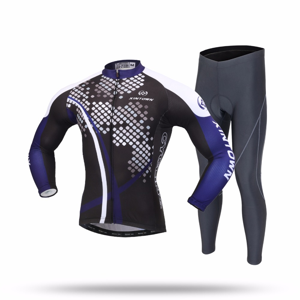 XINTOWN Cycling Sets Long Sleeve Breathable Jersey Clothes Bicicleta Mountain Bike Ropa Ciclismo Bicycle Set Long Sleeve ZIJUN long sleeve gianfranco ferre long sleeve