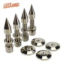 GHXAMP M8 * 60 มม.ลำโพง Spikes ขาตั้งฟุต Pad ทองแดงเสียงลำโพงซับวูฟเฟอร์ความสูง: 60 มม.4 ชุด