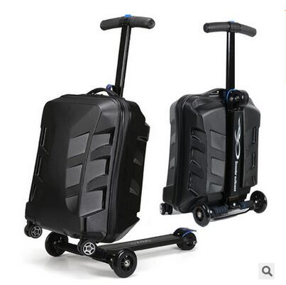 "Luxury Brand 21 ""скутер чемодан с колесами Багаж Случае микро Скутер Чехол Высшего качества скейтборд роллинг багажа"