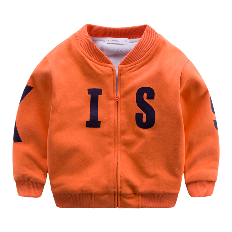 The boy s new children with cashmere coat winter winter Korean Baseball Jacket baby double warm