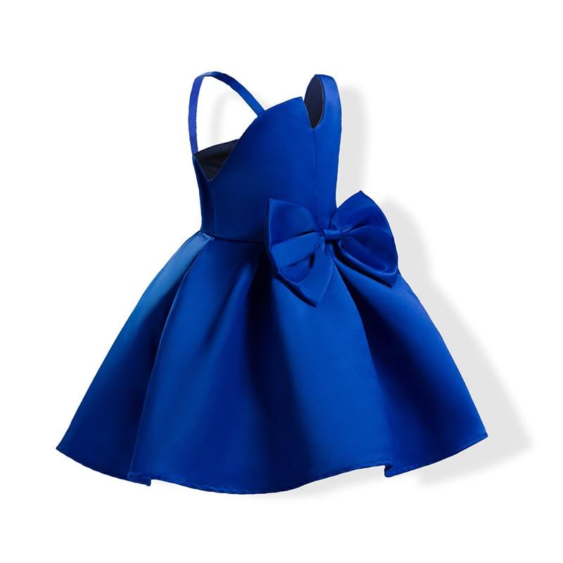 2 Popularny kolor Red Blue Baby Girls Pageant Sukienek Bowknot Bez - Ubrania dziecięce - Zdjęcie 6