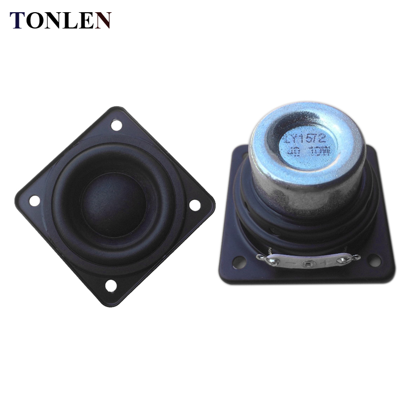 TONLEN 2PCS 4 ohm 10 W Full Range Speaker DIY HIFI speakers portable audio system home theater music speakers computer sound box