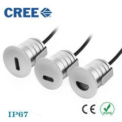 Бесплатная доставка IP67 1 Вт открытый круглый Лестницы свет 12 В 24 В светодиодный шаг огни светодиодный подземный свет