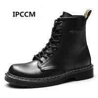 IPCCM/Новинка 2018 года; Модные женские зимние ботинки; Женские однотонные Ботинки martin; короткие бархатные теплые хлопковые Shoes35-43