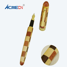 ACMECN Novelty Design Liquid ink Pen Office & School Writing Instrument Artware Hand-made Natural Patchwork Wooden Fountain Pens