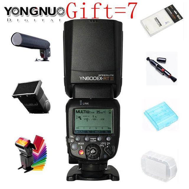 Ban đầu YONGNUO YN600EX-RT II 2.4G Không Dây HSS 1/8000 S Chủ TTL Đèn Flash cho Máy Ảnh Canon như 600EX-RT YN600EX RT II