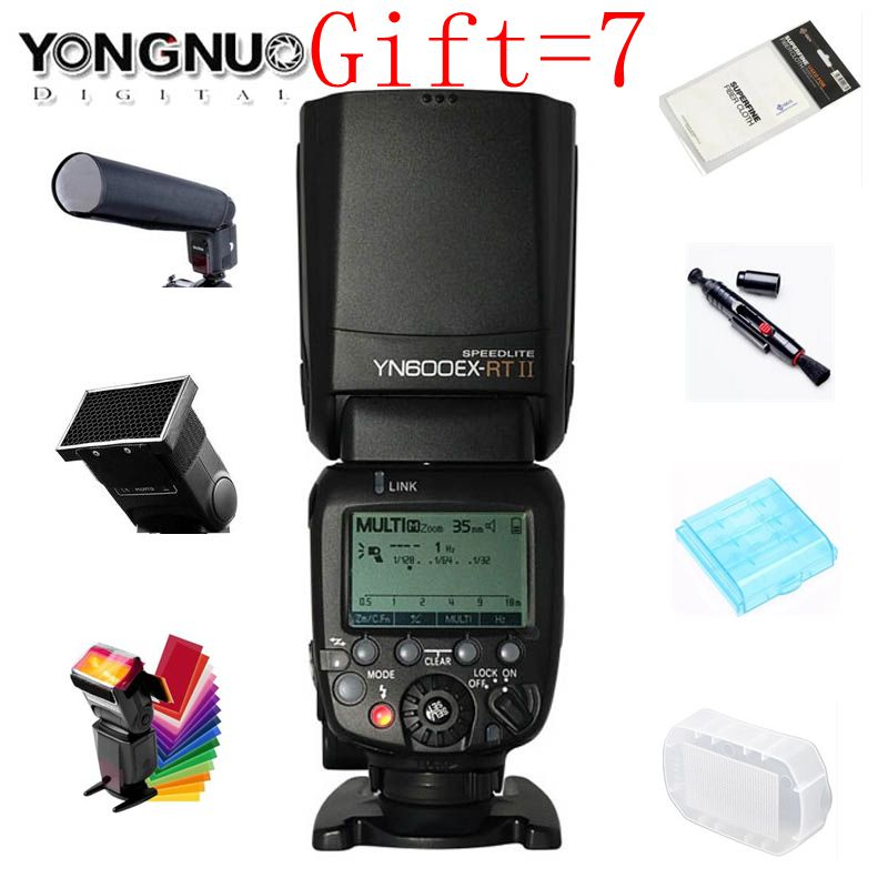 Original YONGNUO YN600EX-RT II 2.4G Wireless HSS 1/8000s Master TTL Flash Speedlite for Canon Camera as 600EX-RT YN600EX RT II вспышка для фотокамеры yongnuo speedlite yn600ex rt canon 600ex rt 2 4g hss 1 8000s speedlite yn600ex rt