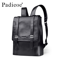 Padieoe Luxury Brand Genuine Leather Backpack Fashion Business Large Capacity Men Backpacks