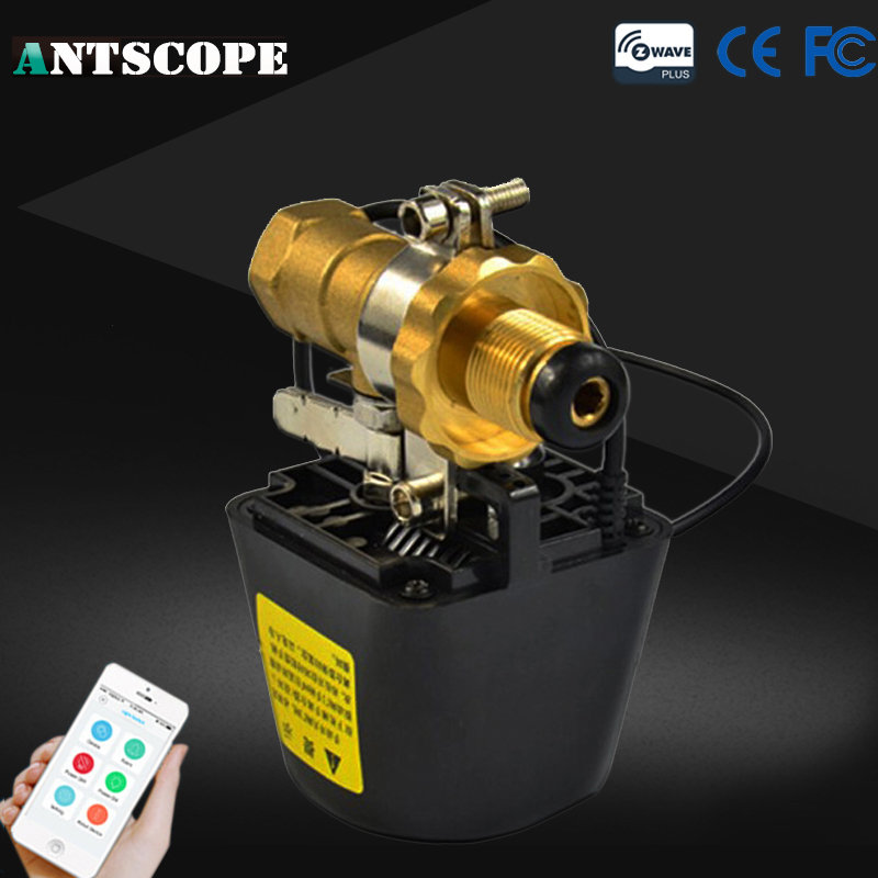 Antscope Z-wave Wireless Z-Wave Smart Home System Valve SM-713 868.42mhz For EU Gas Water Control Compatible Z-wave Technology 1 2 built side inlet floating ball valve automatic water level control valve for water tank f water tank water tower