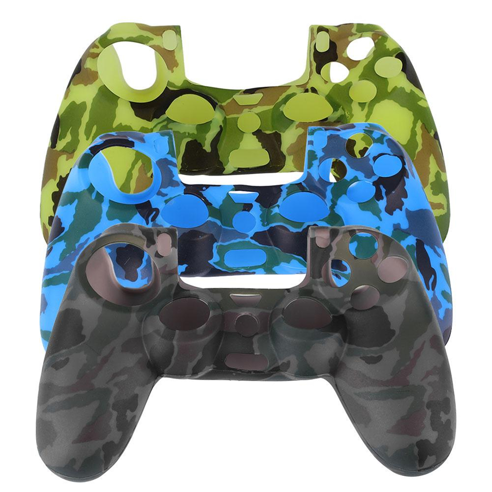 Cewaal Durable Camouflage Color Silicone Protector Cover Case for Playstation 4 PS4 Controller Gamepad Game Accessories