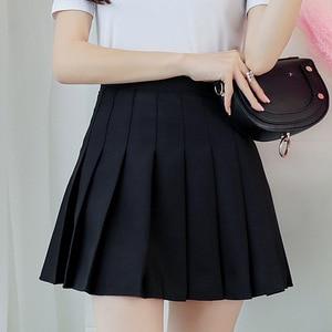 Image 1 - Kpop Ulzzang Black Pink Mini Skirt Women Summer 2019 Harajuku Kawaii Skirts Womens Korean Schoolgirl Streetwear Skirts