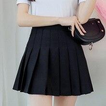 Kpop ulzzang preto rosa mini saia feminina verão 2019 harajuku kawaii saias das mulheres coreano schoolgirl streetwear saias