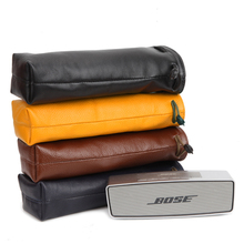 цена на Newest Leather Carry Protective Storage Box Pouch Cover Bag Case For Bose SoundLink Mini 1/Mini 2 Wireless Bluetooth Speaker