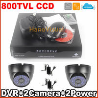 Waterproof Indoor And Outdoor 800tvl Panasonic CCD Camera Kit 960H Night Vision 4CH DVR Kit Surveillance