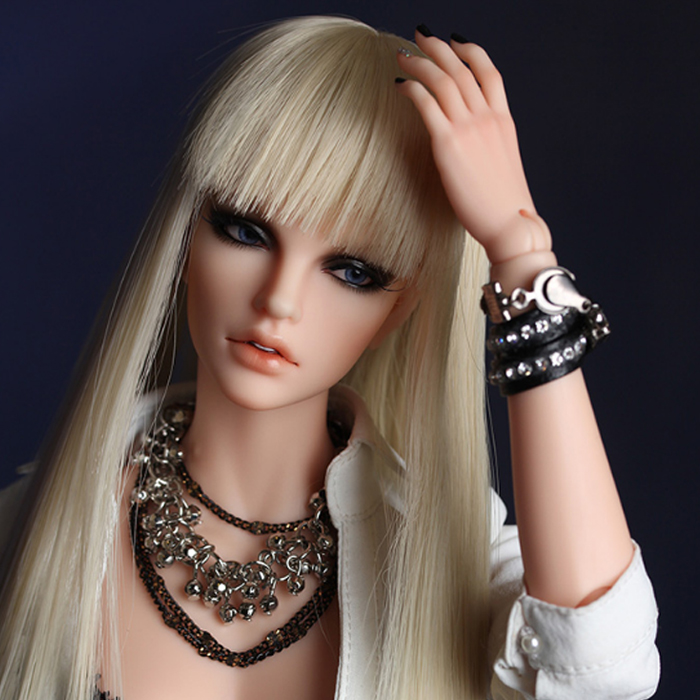 OUENEIFS free shipping size 5-6 inch 1/4 high-temperature wig Fid Stella girl hair bjd sd doll Lovely Wig in beauty