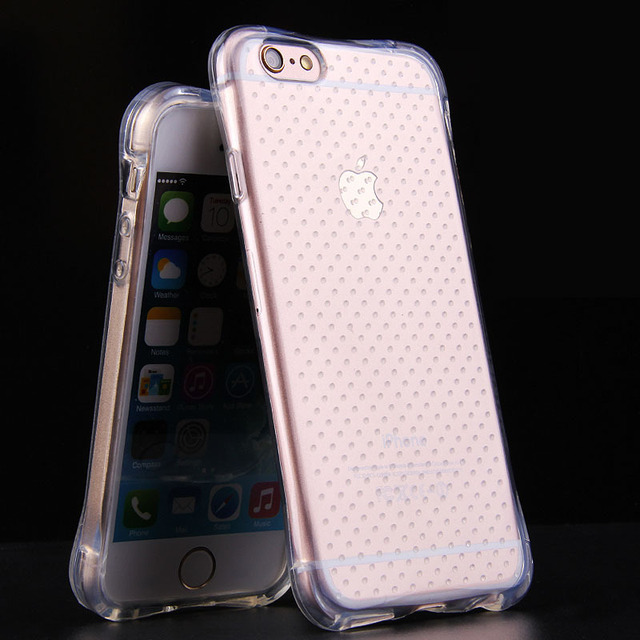 info for 8fe98 ca7bb US $1.06 5% OFF|Soft Flexible Gasbag Design Clear Silicone Case for  capinhas iphone 8 7 Plus 6s Plus 5 5s With Air Cushion Corner TPU Case  Cover-in ...